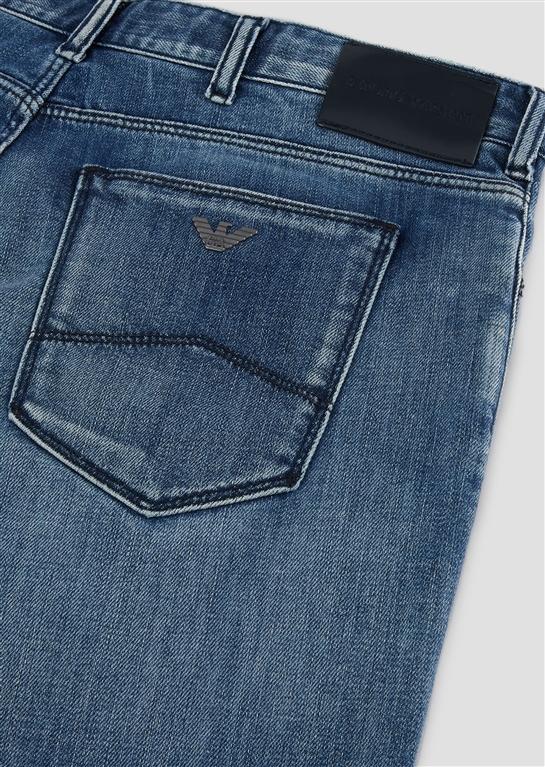 Emporio Armani - Jeans - jeans j36 in denim di cotone twill con foulard logato 2