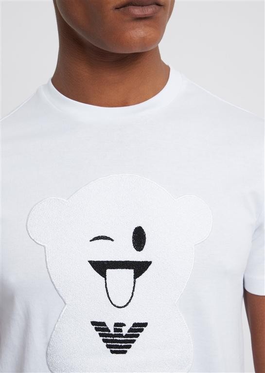 Emporio Armani - T-Shirt - t-shirt manga bear bianca 1