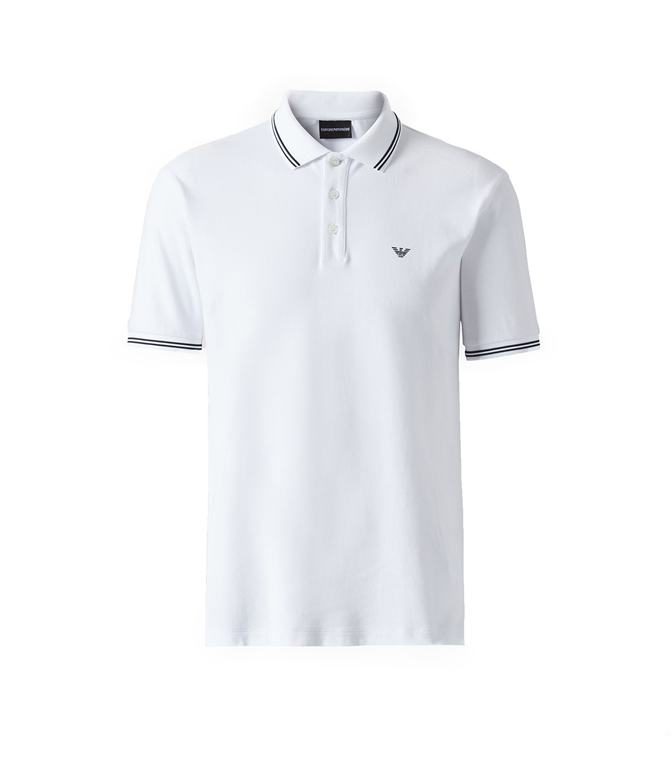 Emporio Armani - Polo - POLO IN COTONE STRETCH BIANCA