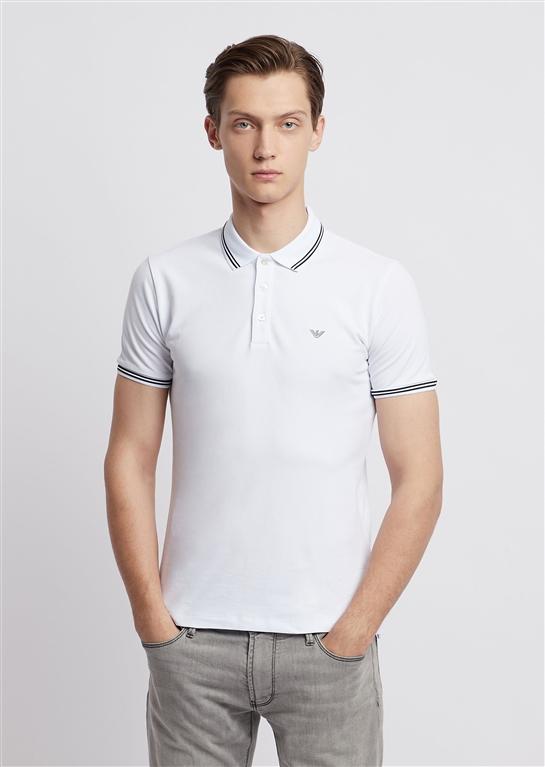 Emporio Armani - Polo - polo in cotone stretch bianca 1