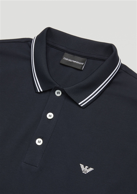 Emporio Armani - Polo - polo in cotone stretch blu 1