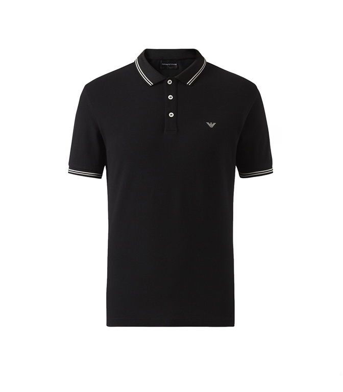 Emporio Armani - Polo - polo in cotone stretch nera