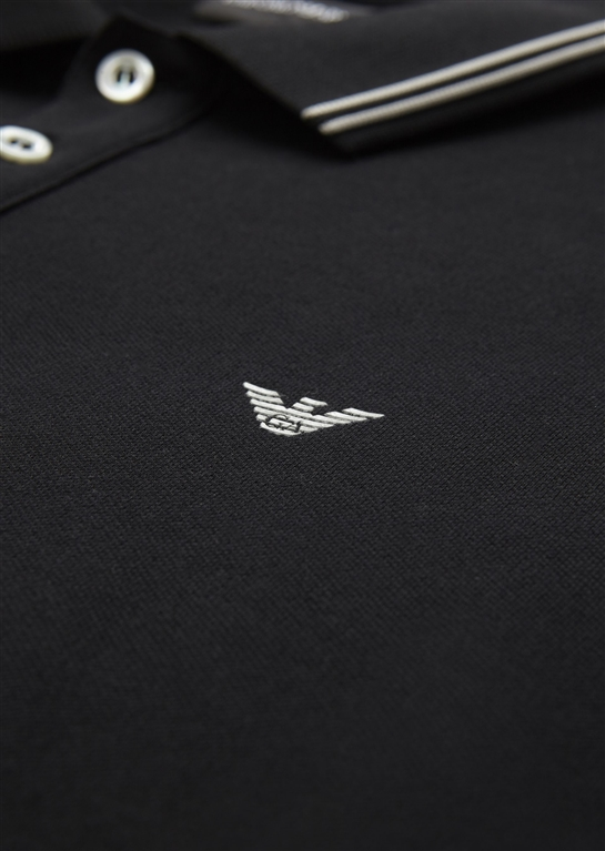 Emporio Armani - Polo - polo in cotone stretch nera 1