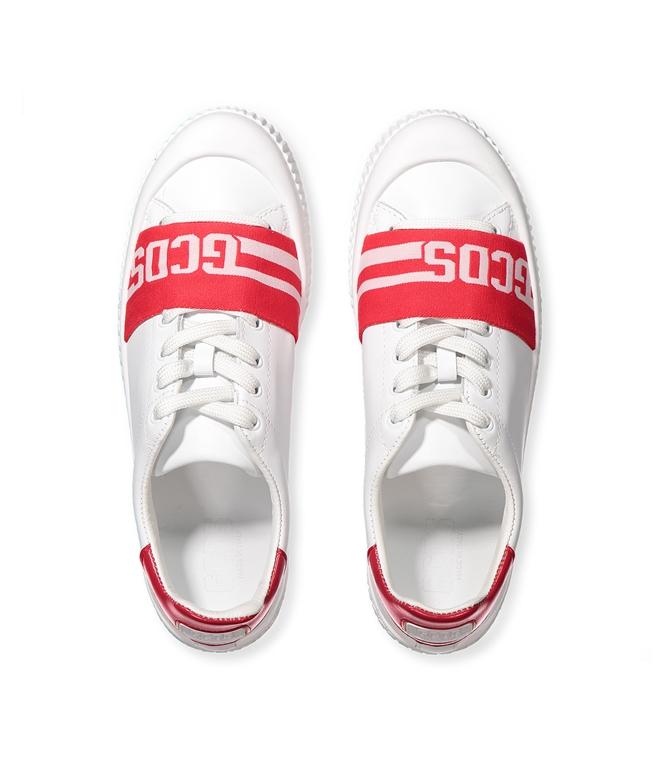GCDS - Scarpe - Sneakers - logo sneakers white/red 2