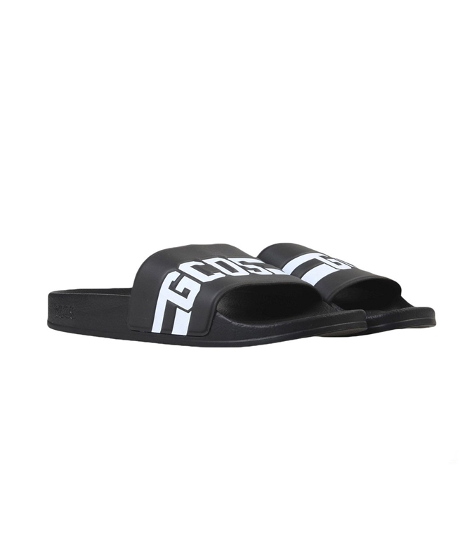 GCDS - Ciabatte - sandali in gomma black/white 1