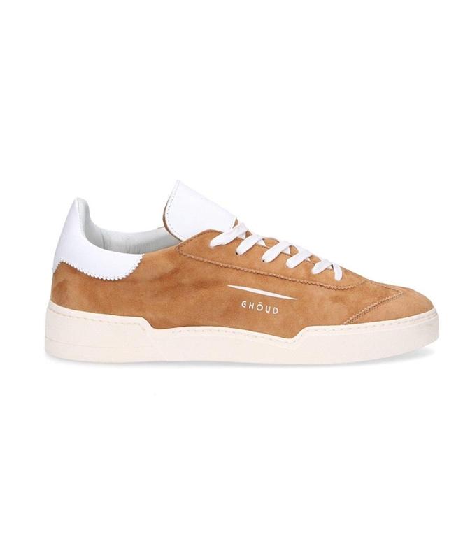 Ghoud Venice - Saldi - sneaker in suede cognac/white