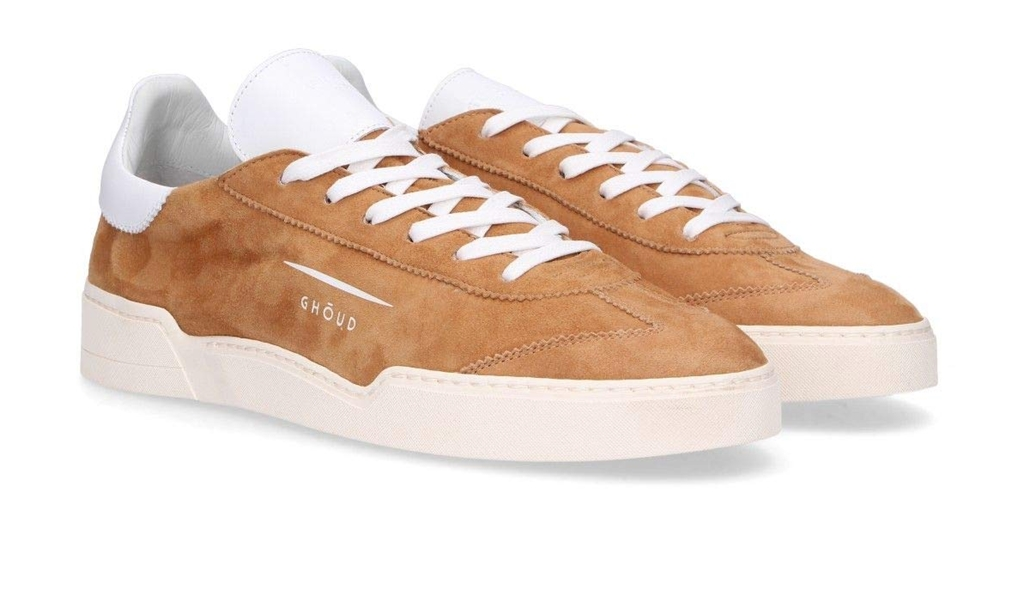 Ghoud Venice - Saldi - sneaker in suede cognac/white 1