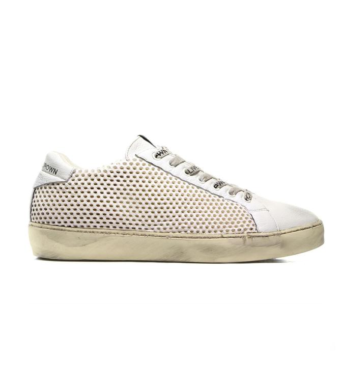 Leather Crown - Outlet - sneaker m iconic traforata white