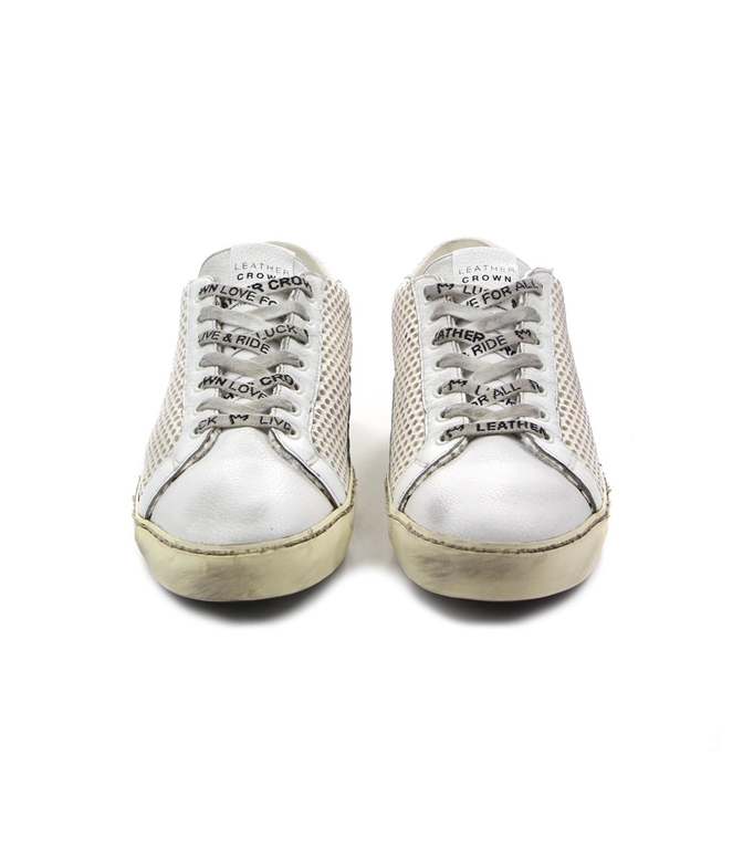 Leather Crown - Outlet - sneaker m iconic traforata white 2