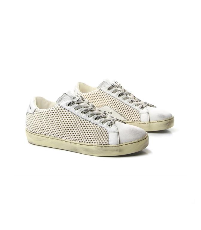 Leather Crown - Scarpe - Sneakers - sneaker m iconic traforata white 1