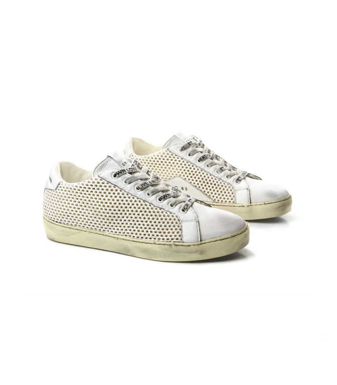 Leather Crown - Saldi - sneaker m iconic traforata white 1