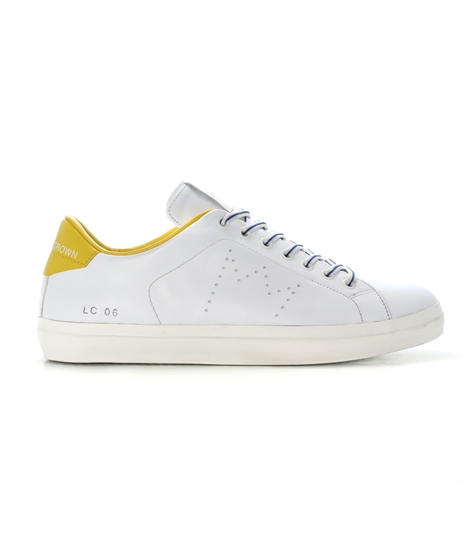 Leather Crown - Outlet - sneaker mlc06 white/sun