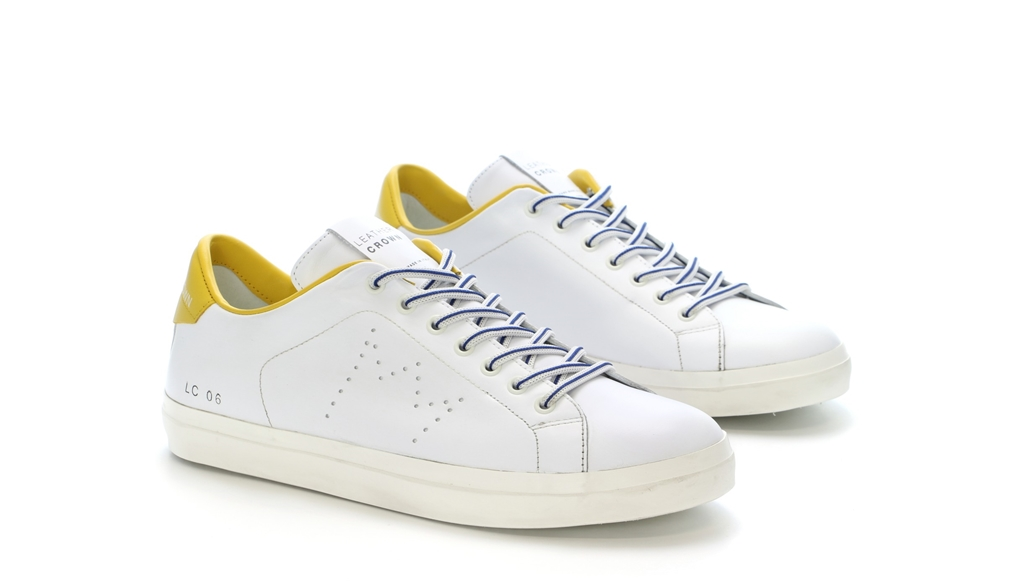 Leather Crown - Outlet - sneaker mlc06 white/sun 1