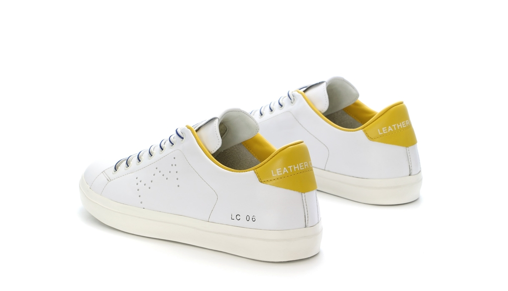 Leather Crown - Outlet - sneaker mlc06 white/sun 2