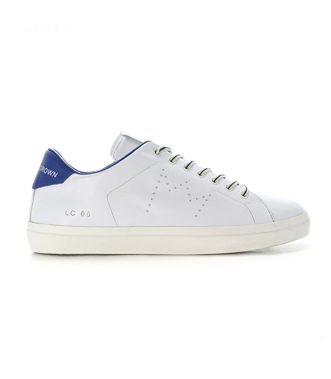 Leather Crown - Scarpe - Sneakers - SNEAKER MLC06 WHITE/JEANS