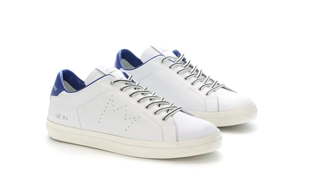 Leather Crown - Scarpe - Sneakers - sneaker mlc06 white/jeans 1