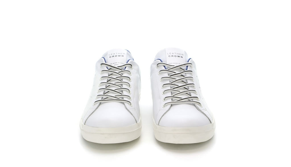 Leather Crown - Scarpe - Sneakers - sneaker mlc06 white/jeans 3