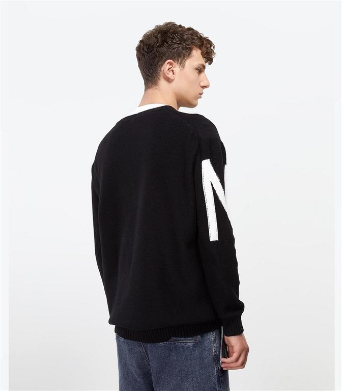 N°21 - Maglie - maglione girocollo con logo nero 2