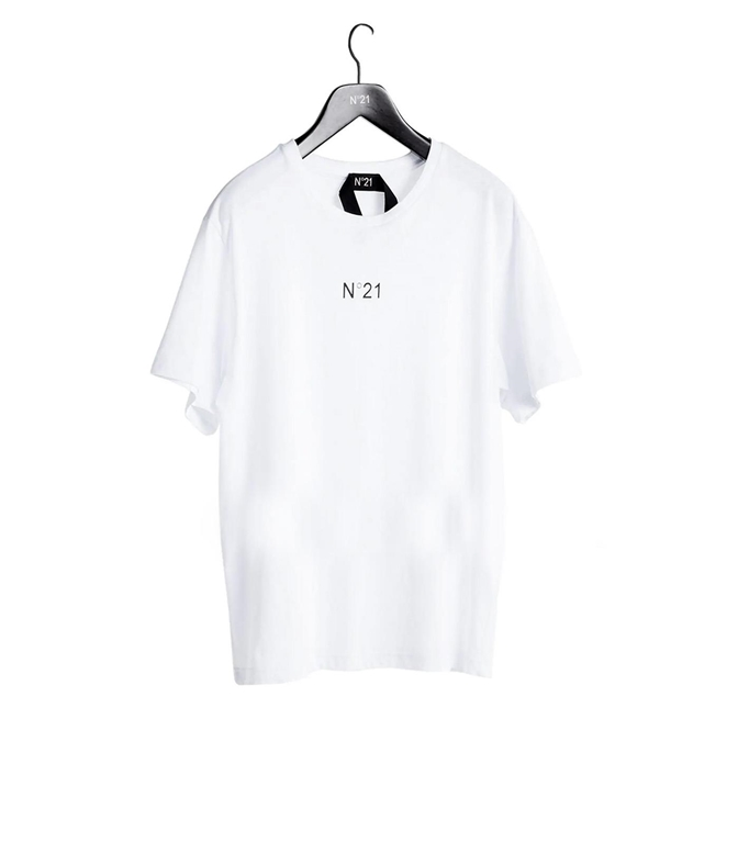 N°21 - T-Shirt - t-shirt girocollo con stampa logo bianca