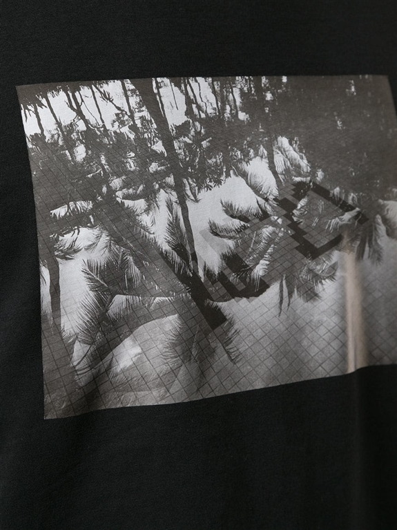 N°21 - Outlet - t-shirt con girocollo e stampa fotografica nera 1