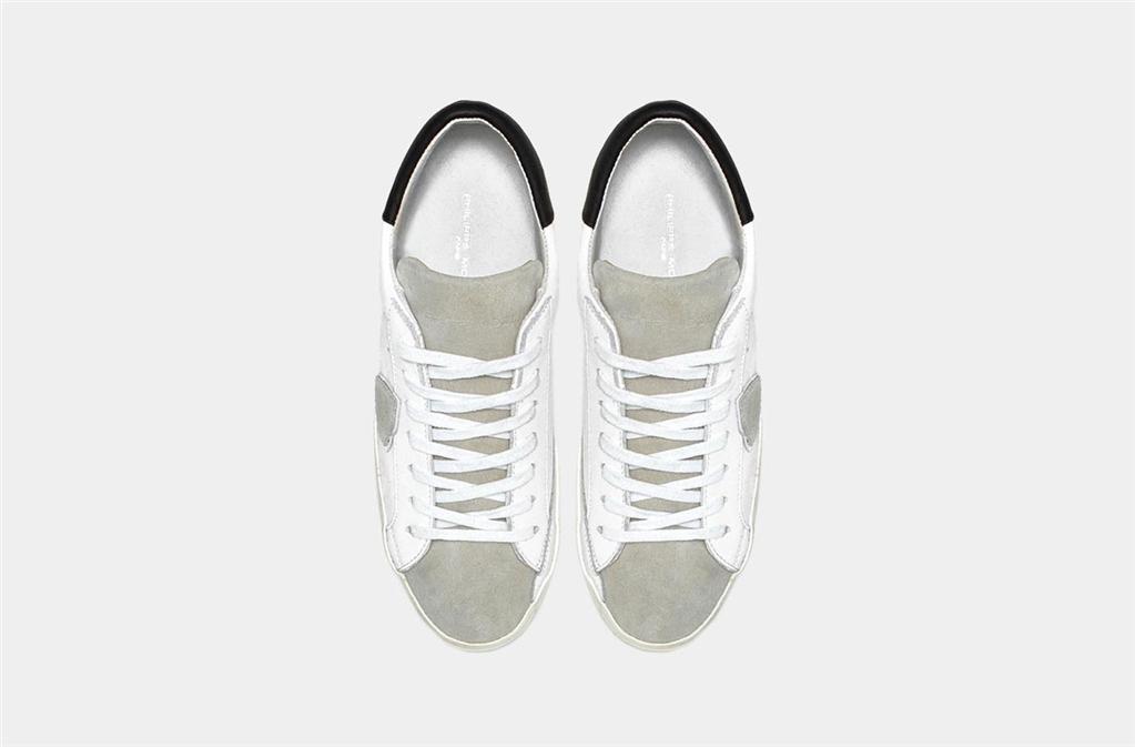 Philippe Model - Scarpe - Sneakers - paris - basic blanc gris 2