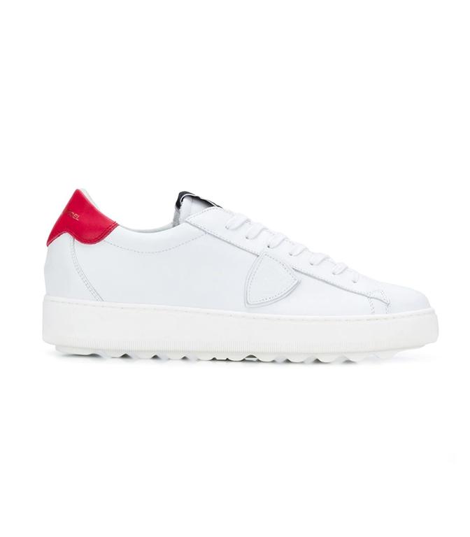 Philippe Model - Scarpe - Sneakers - SNEAKER IN PELLE MADELEINE BLANC/ROUGE