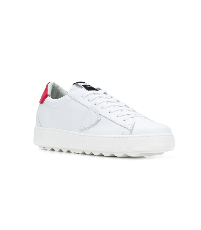 Philippe Model - Scarpe - Sneakers - sneaker in pelle madeleine blanc/rouge 1
