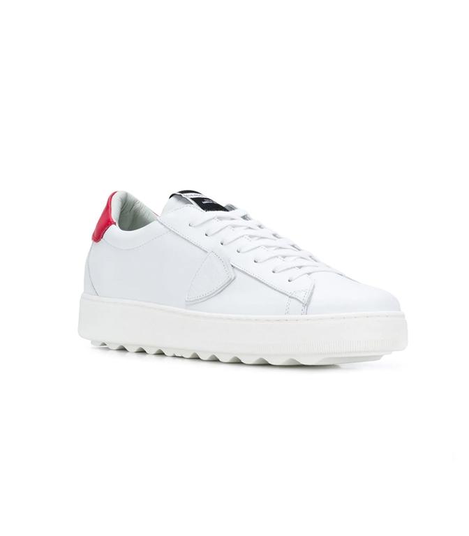 Philippe Model - Scarpe - Sneakers - sneaker in pelle madeleine blanc/rouge 1