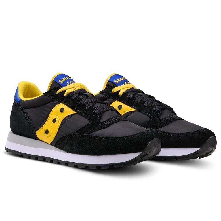 Saucony - Scarpe - Sneakers - sneakers jazz o' black/yellow/blu 2