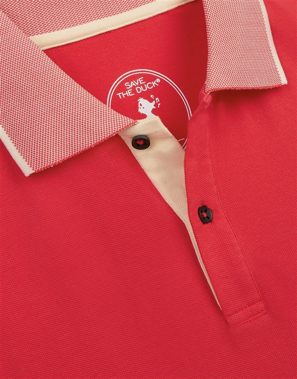 Save The Duck - Polo - polo dr050m pico8 tomato red 2