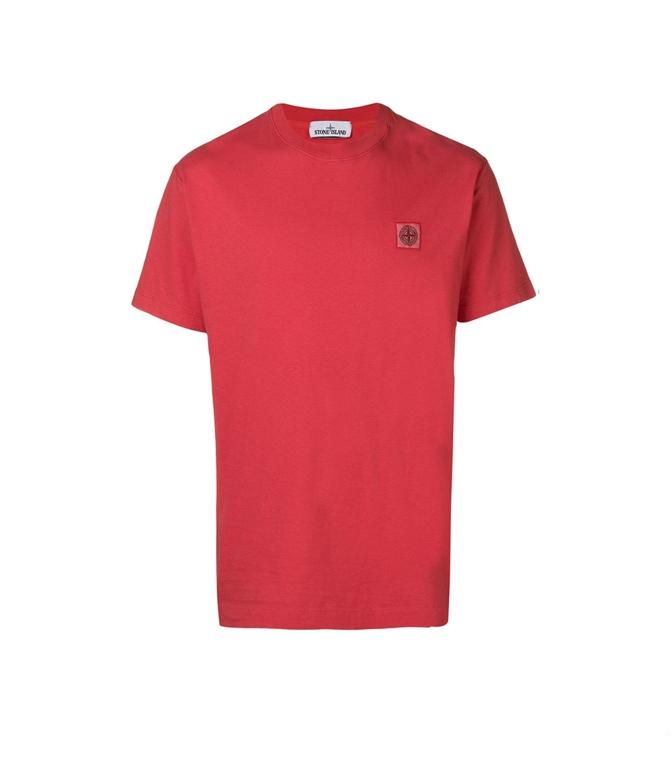 Stone Island - T-Shirt - t-shirt tinto fissato corallo