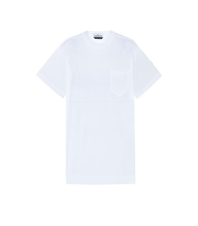 Stone Island - T-Shirt - T-SHIRT CON TASCHINO BIANCA