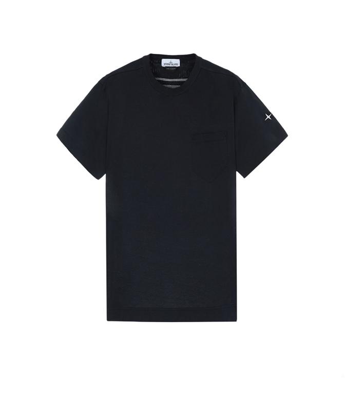 Stone Island - T-Shirt - T-SHIRT CON TASCHINO BLU