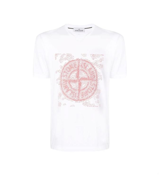 Stone Island - T-Shirt - T-SHIRT GRAPHIC TWO BIANCA
