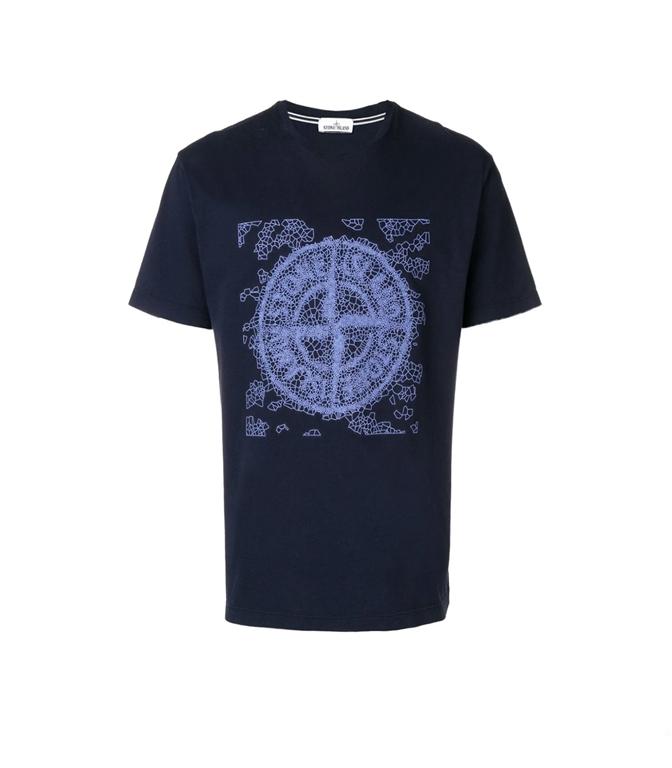 Stone Island - T-Shirt - t-shirt graphic two blu