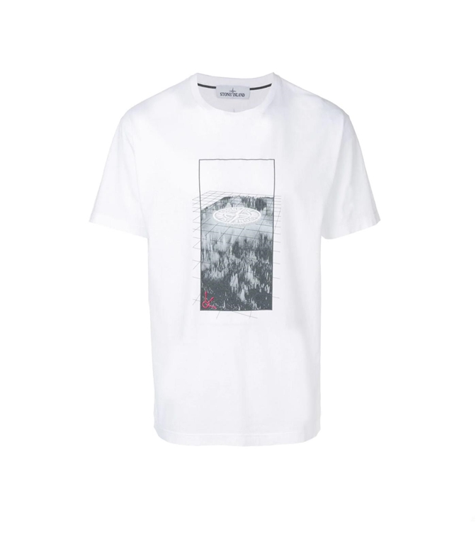 Stone Island - T-Shirt - t-shirt graphic three bianca