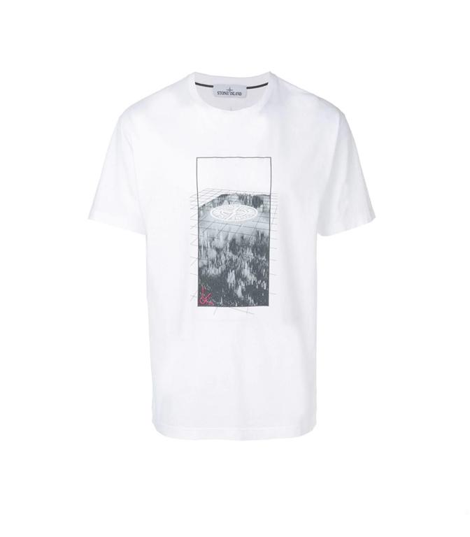 Stone Island - T-Shirt - t-shirt graphic three bianca