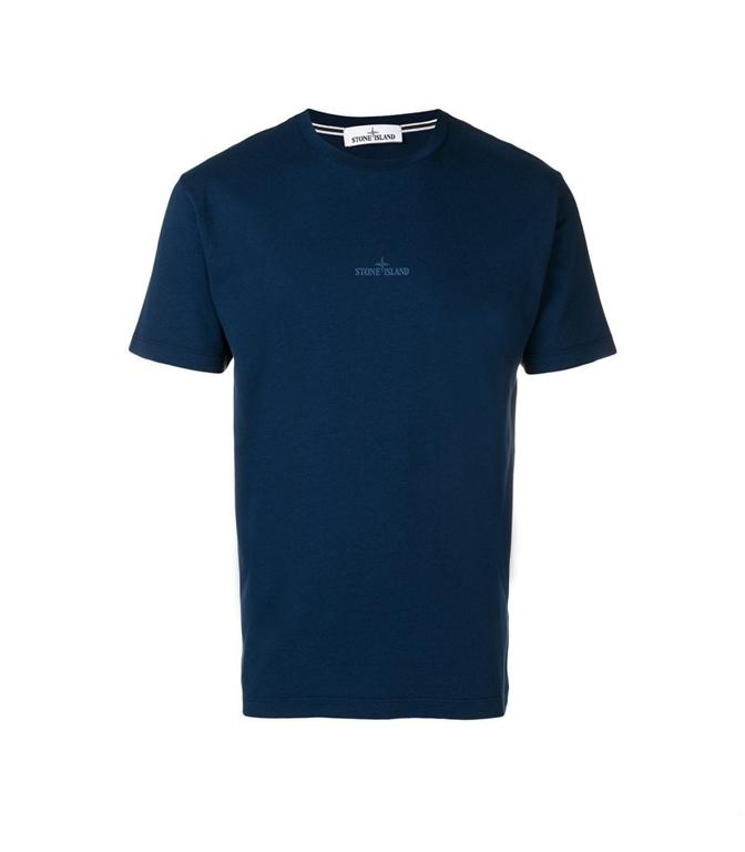 Stone Island - T-Shirt - t-shirt graphic seven blu