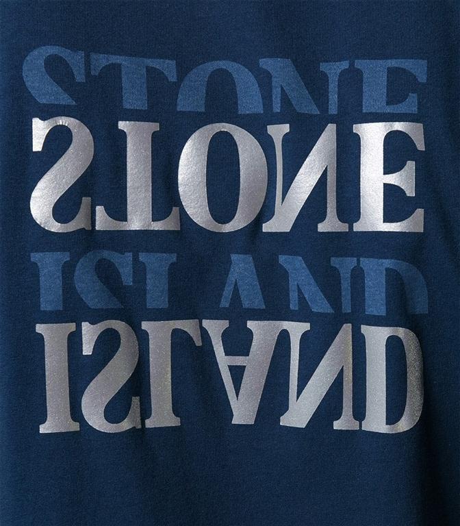 Stone Island - T-Shirt - t-shirt graphic seven blu 1
