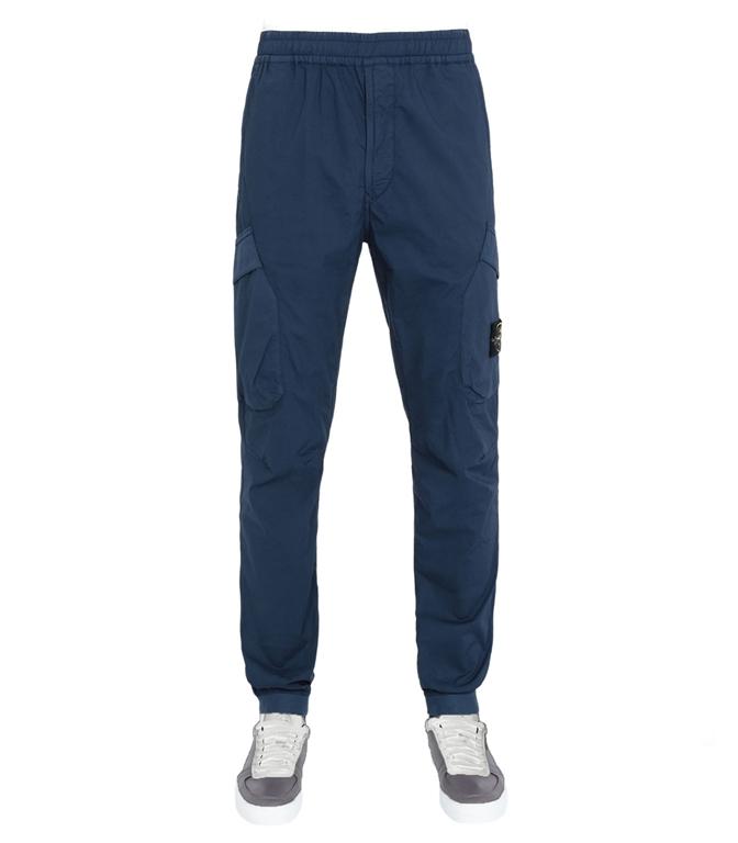 Stone Island - Pantaloni - pantalone cargo blu marine