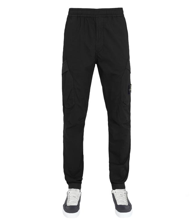 Stone Island - Pantaloni - pantalone cargo nero