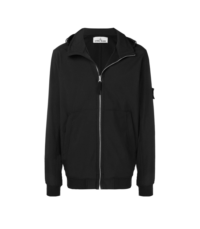 Stone Island - Giubbotti - LIGHT SOFT SHELL-R NERO