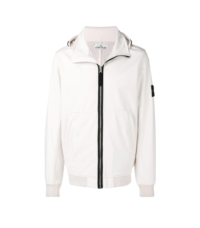 Stone Island - Giubbotti - LIGHT SOFT SHELL-R STUCCO