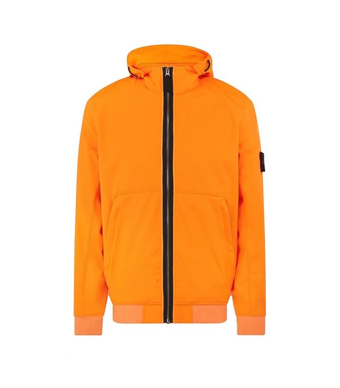 Stone Island - Giubbotti - light soft shell-r arancio fluo