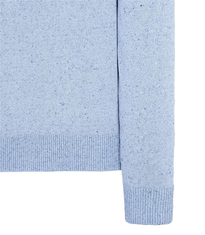 Stone Island - Maglie - maglia girocollo in lino pervinca 1