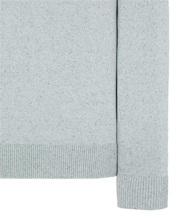 Stone Island - Maglie - maglia girocollo in lino salvia 1