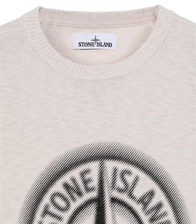 Stone Island - Maglie - maglia girocollo bicolore stucco 1