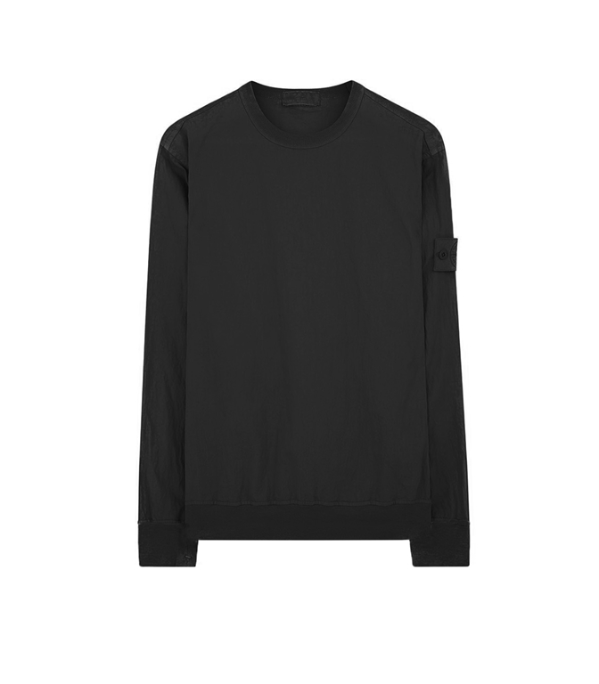 Stone Island - Felpe - GHOST PIECE - COTTON NYLON TELA NERA