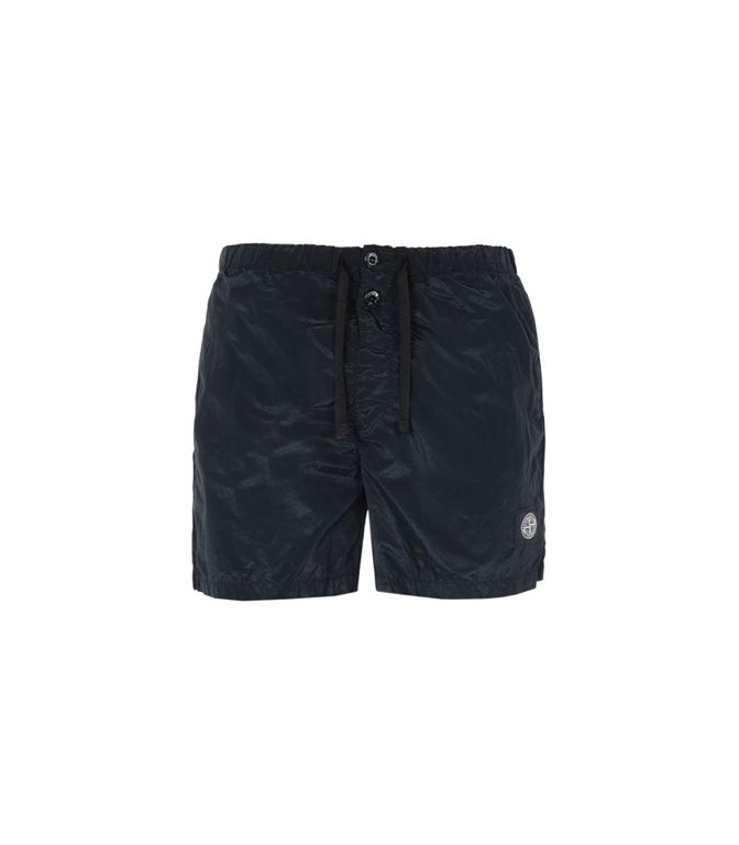 Stone Island - Costumi - SHORT MARE NYLON METAL NERO