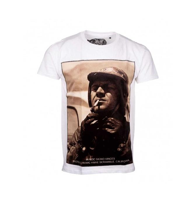 Bastille - T-Shirt - T-SHIRT BASTILLE STEVE CIGARETTE BIANCA